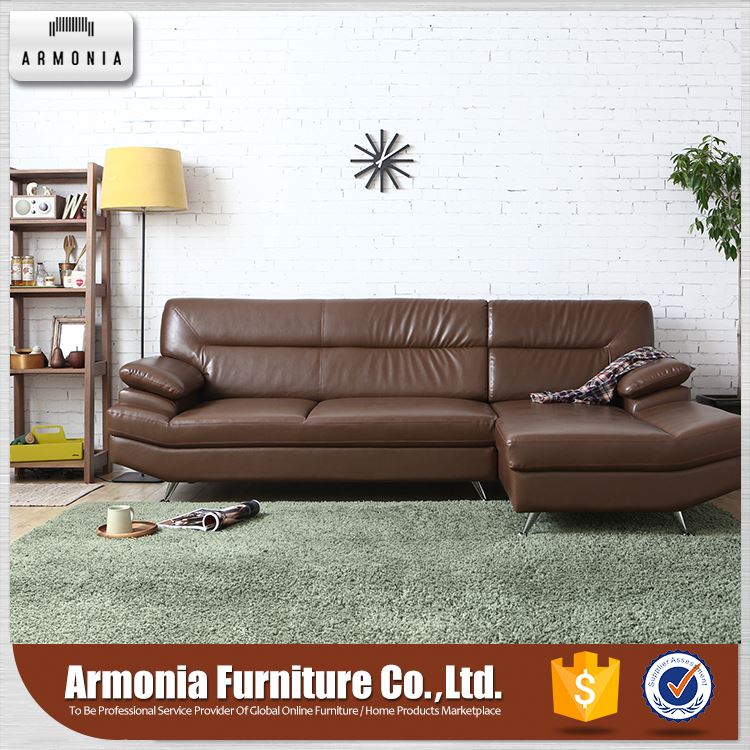 Couch genuine leather furniture simple sofa set
