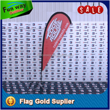 Wholesale 3.1m polyester promotional feather flags cheap with custom logo