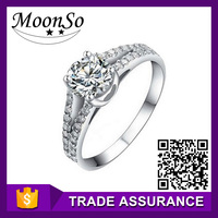 Wholesale MOONSO superman wedding ring bridal wedding jewelry set nepal rings KR208women