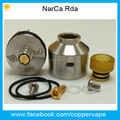 Very Cheap top quality 22mm Narca rda clone slammed top cap narca Black SS Ultem in stock Now