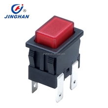 Electrical switches for Dust collector 6A 10A 125V 250V 4 feet red LED light push button switch