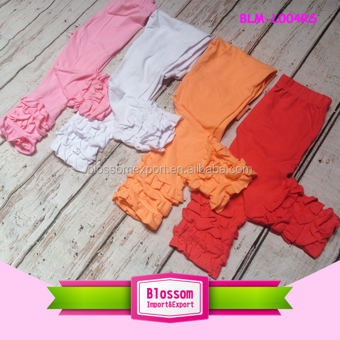 New Arrival Spring Summer Cotton Kids Pants Chiffon Leg Baby Harem Pants