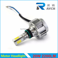 Wholesale Motorcycle Headlight Housing 2200lm H6 20w/14w Headlight Motorcycle Hi/Lo 4200k