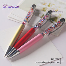 2-in-1 Capacitive Styli Stylus Touch Ballpoint Jewelled Crystal Pen For Touchscreen Devices