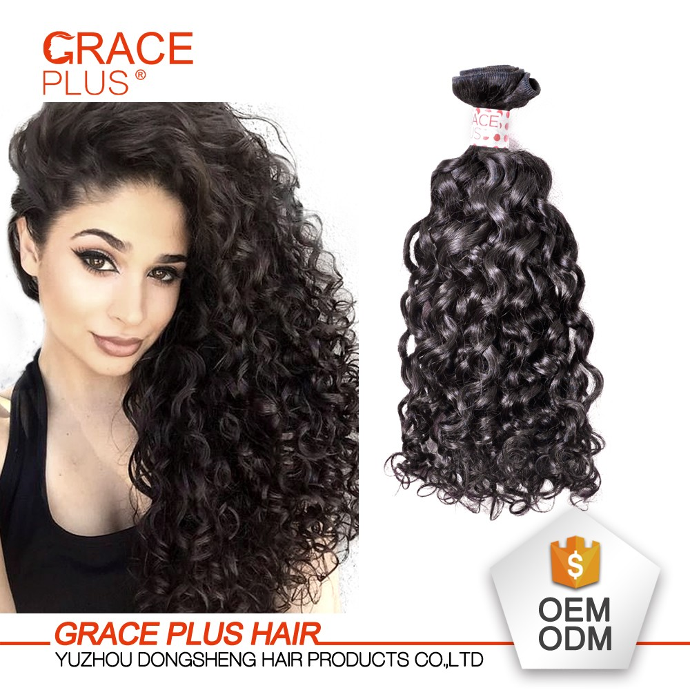 Grace Plus Grade 8a 100% Virgin Malaysian Remy Human Easy Hairstyles For Long Curly Hair