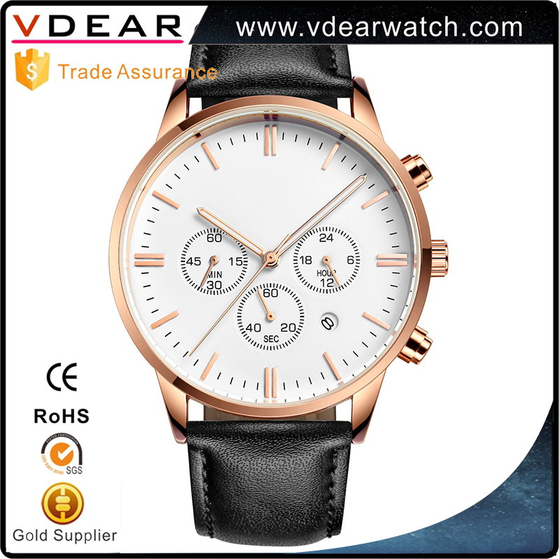 Chronograph private label mens stainless steel back japan movt quartz oem watch sr626sw price