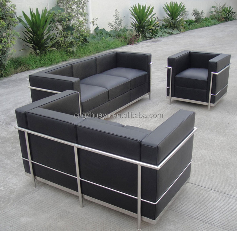Chinese factory hot sale Barcelona style LC2 chair/loveseat/sofa