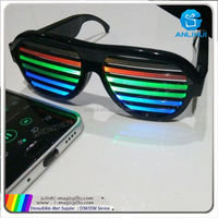 glow blind window neon led flashing party glasses