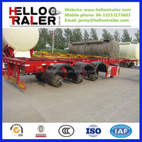3 axle skeleton container transport trailer with 40feet chassis