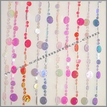 Shiny colorful decorative hanging curtain room divider AM014