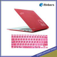 For hot Hello Kitty Print Hard Shell Protective Case for MacBook Por13 13.3 Inch A1278 Keyboard Cover