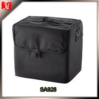 210D Black Soft Makeup Case Pockets Artist Cosmetic bag