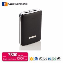 Rechargerable Powerbank Real Capacity 7800 mah Power Bank Leather