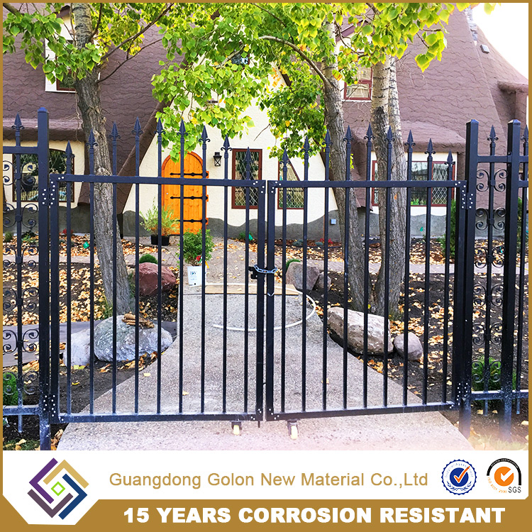 New design fashion low price classical steel perimeter security palisade fence and small garden fence designs