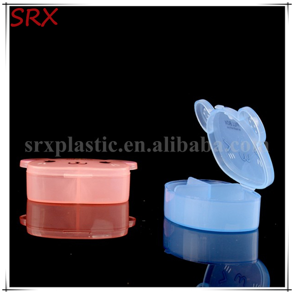 Clear 6 dividers Convenient cute custom logo Plastic pill boxes wholesale,OEM plastic 6 parts jewelry boxes for sale