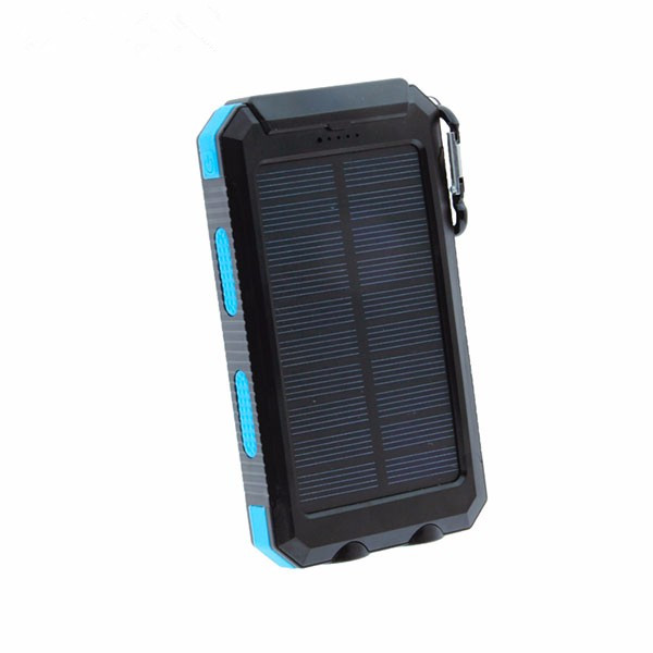Portable Power Bank Dual USB Power Bank 8000mAh waterproof powerbank bateria external Portable Solar Panel with LED light