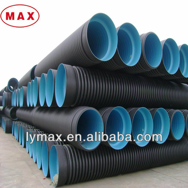 Hdpe dn mm large sewer pipe steel stripe drainage tubes
