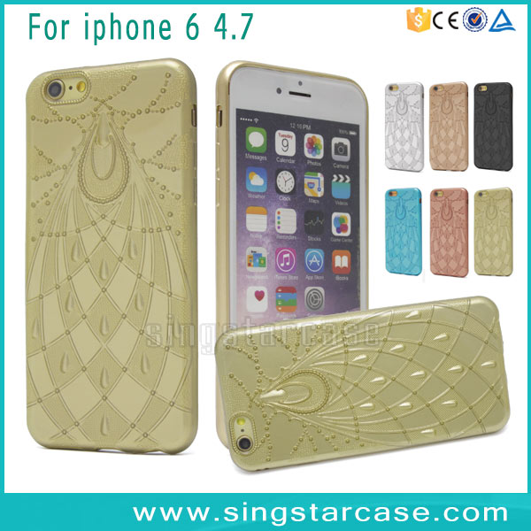 New Arrival 2016 Products Fantastic Fireworks Back Cover Gold Skin TPU Phone Case For iPhone 6