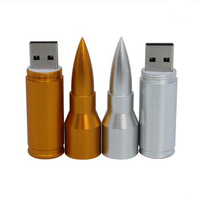 metal bullet shaped usb flash drive 8gb with keychain