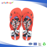 2016 cool style wide texture strap solid red pe young fashion shoes flip flops men
