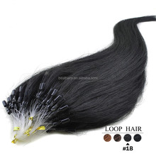 Double Drawn 10A Quality Indian Micro Links Loop Hair 0.5g/0.8g/1g/1.5g Cheap Micro Ring Hair Extension