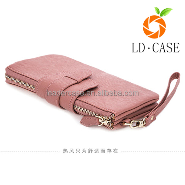 Hot sales designer fashion beautiful leather ladies wallets and purses