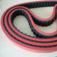 300H100 timing belt 762mm length 25.4mm width endless round drive belt with 8mm red rubber coat