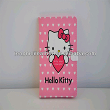 Hot sells cute Hello Kitty Pink for new ipad mini leather case