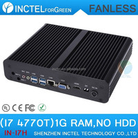 Cheapest business desktop computer for office i7 4770T 2.5G wifi optional DC12v input quad core