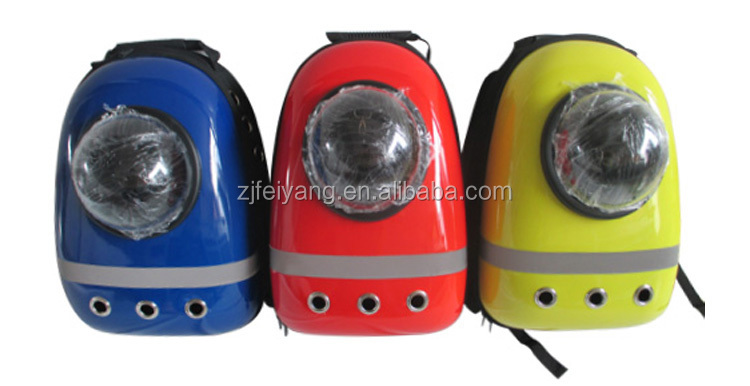 Manufacture transport travel carrier capsule/astronaut space backpack, private label ABS acylic dog/cat animal bag