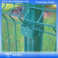 lowest metal Q195 iron PVC coated anti-climb fence factory