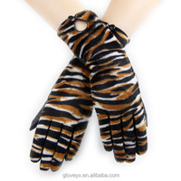 fashion ladies long warm leather gloves w animal fur sexy gloves party gloves