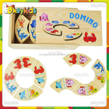 2016 wholesale baby wooden domino game set,top fashion kids wooden domino game set,cheap children wooden domino game set W15A011