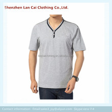 top fashional and casual men spandex t shirts 2016 button tees