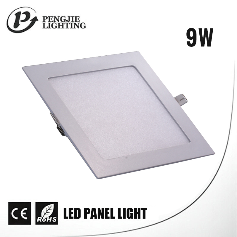 Square mounted color temperature adjustable led panel light ceiling 9w