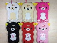 3D Rilakkuma Bear Cute Soft Silicone Case Cover for Samsung Galaxy Note 2 N7100