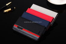 Contrast Color PU Leather Flip Stand Phone Bag Vintage Case Cover for huawei P6