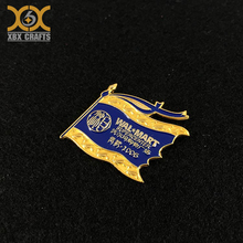 Custom Company Design 3D Engraved Metal Badge Clip Safety Pin With Logo Printed