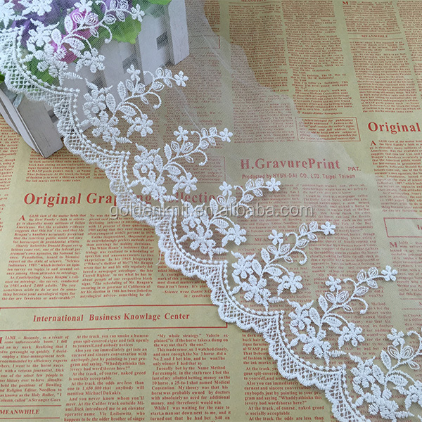 Embroidery Cotton Tulle Lace for Wedding Dress