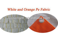 White Orange Pe Waterproof Fabric 150GSM