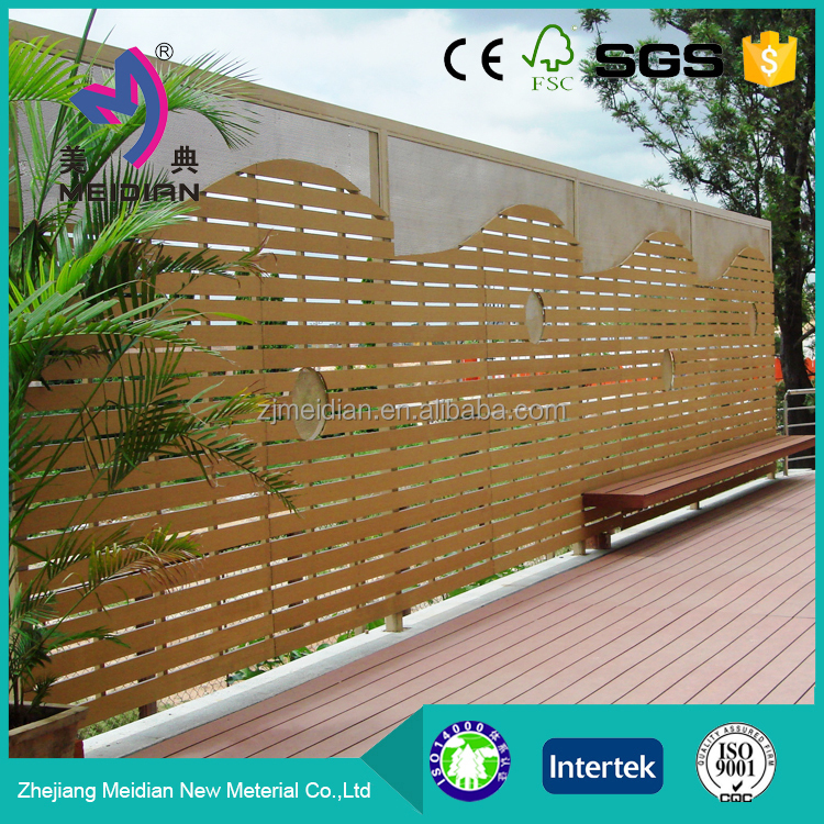 Eco-friendly wpc outdoor fence decor design