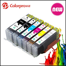6 Color PGI 550 CLI 551 Refill Ink Cartridge for Canon PIXMA MG5450/MG6350/IP7250/MX925 Inkjet Printer with Auto Reset Chip