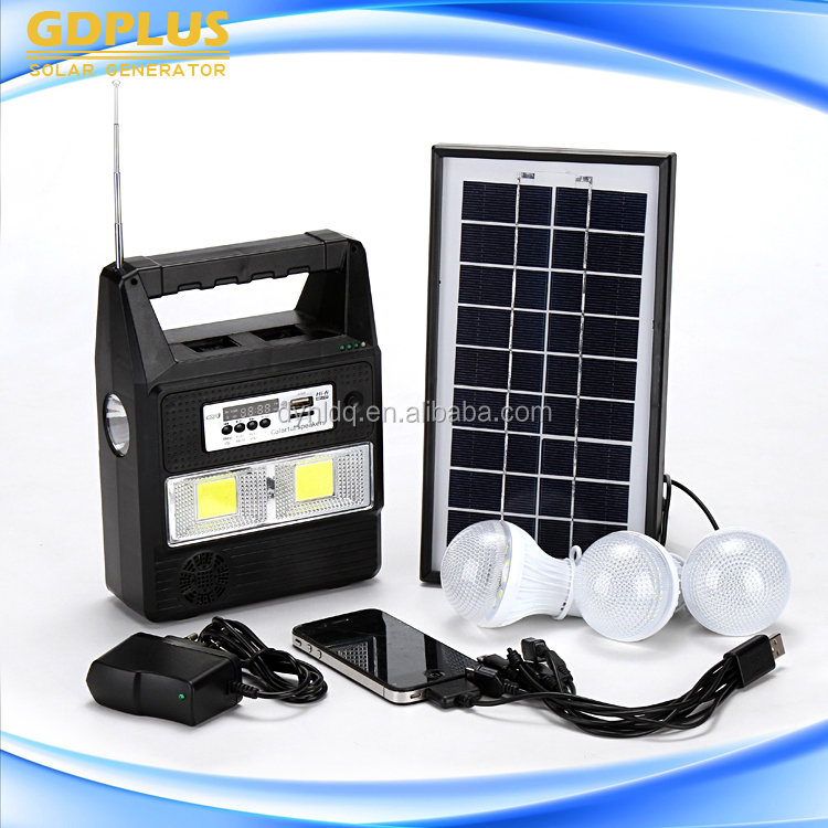 Factory Price Green Power 1kva solar system price With Phone Charge, cheap price of 3w solar system