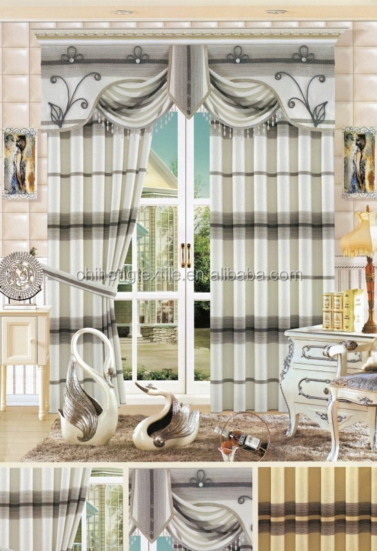 home textile 2014 new design curtains for manufactured home