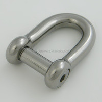 Stainless steel hex key D shackle