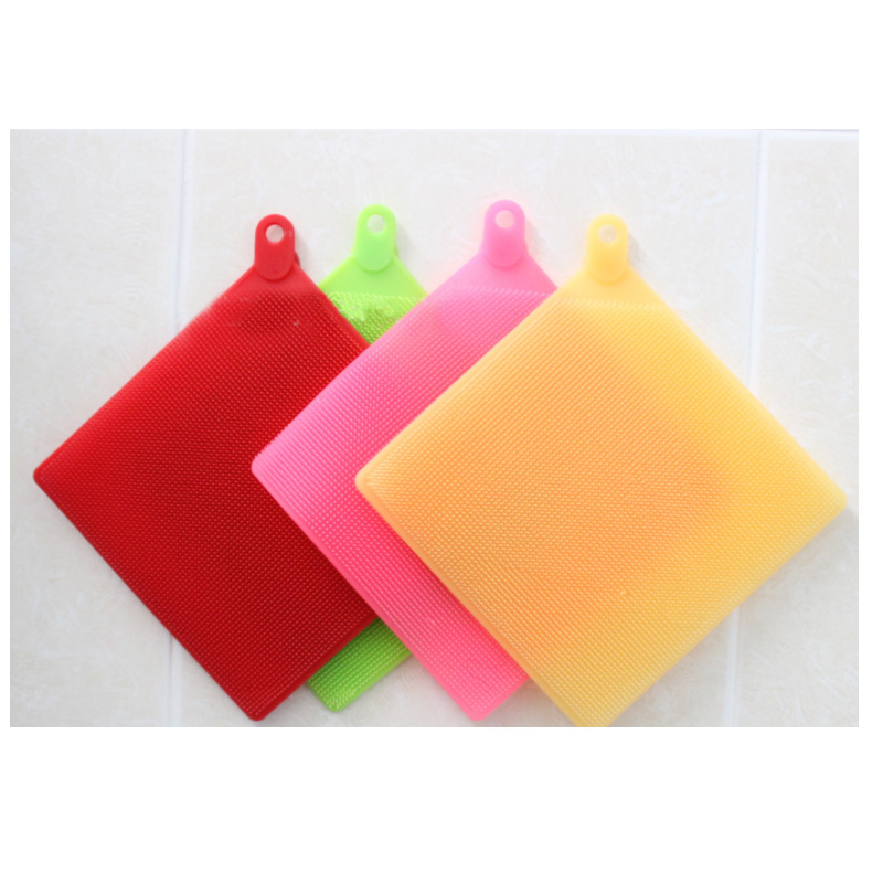 2019 FDA Strong Cleaning Kitchen Reusable Silicone Dish Sponge