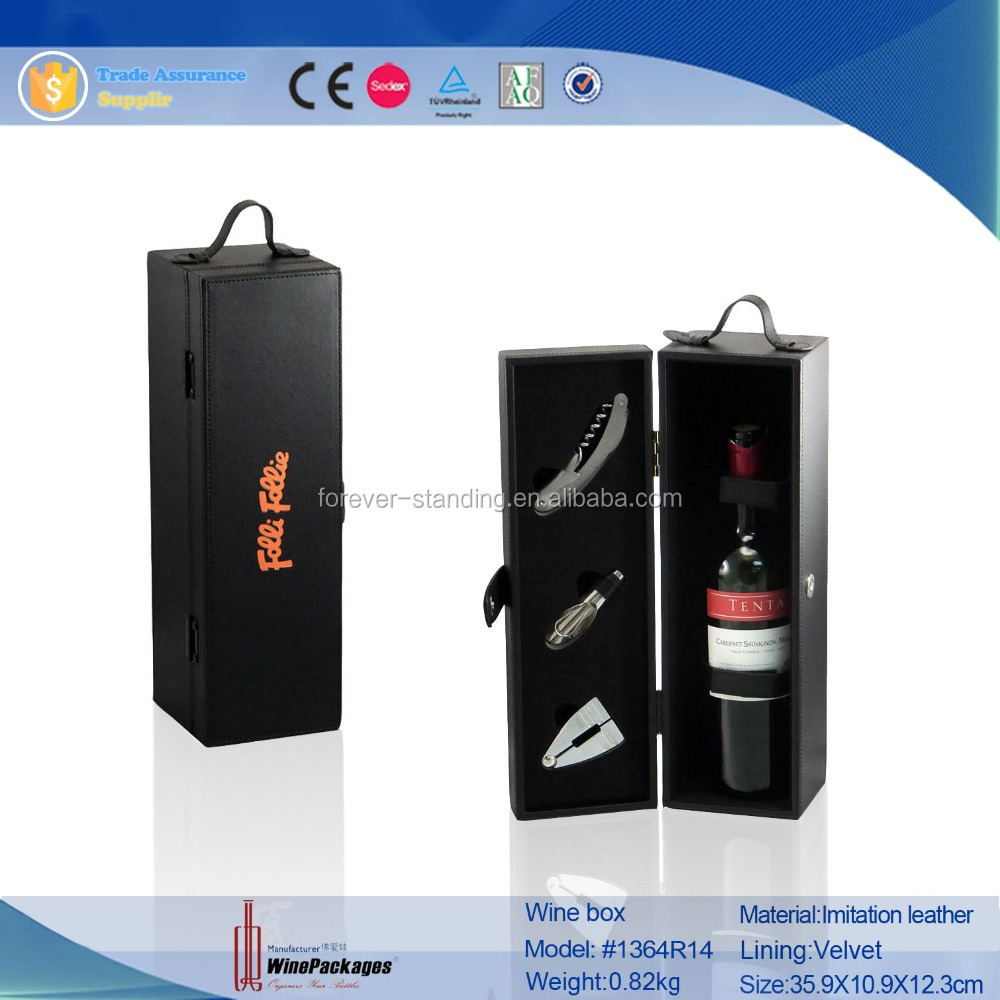 wooden wine box with accessories individual wine set gift box