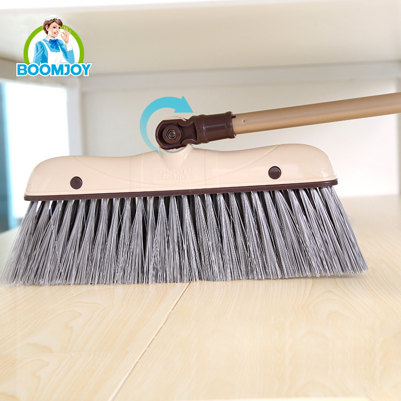 BOOMJOY Eco strong PP aluminum handle home use quick clean large volume dustpan and broom set