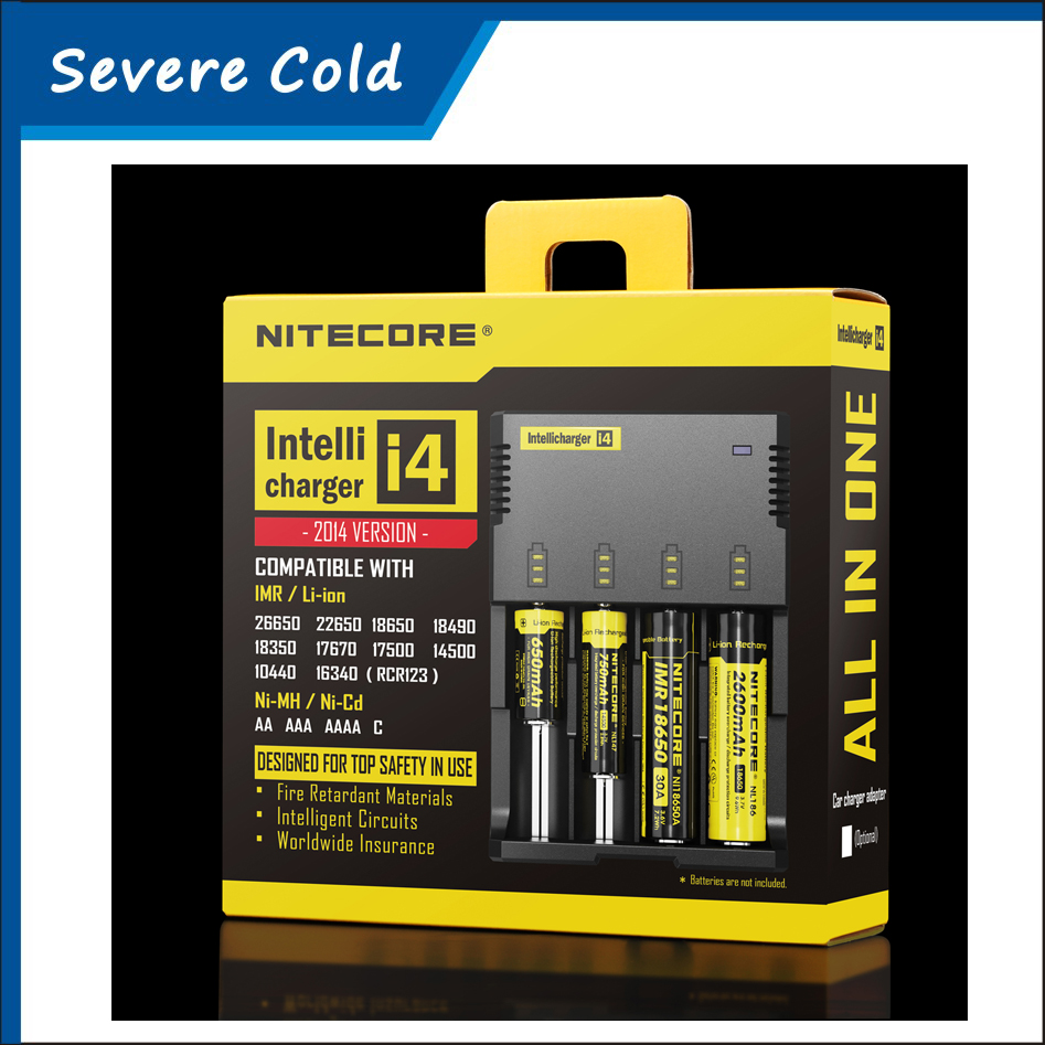NEW Nitecore i4 Charger for 18650 16340 26650 10440 AA AAA 14500 Battery Charger Nitecore Battery Charger