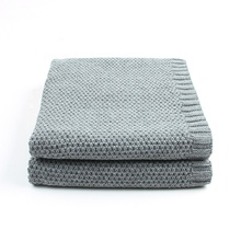 <strong>100</strong>%Organic cotton muslin knit newborn thermal swaddle baby blanket